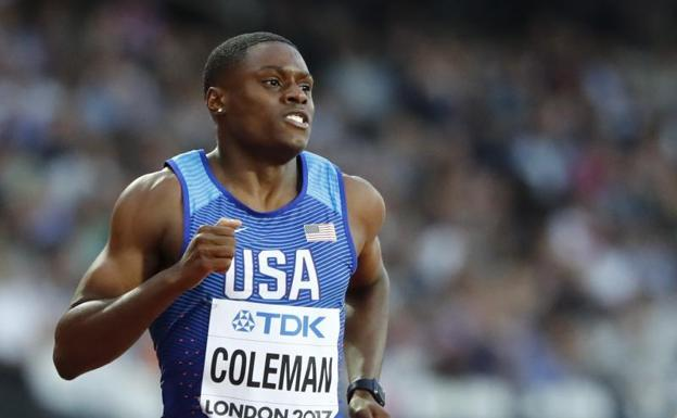 Christian Coleman. /Lucy Nicholson (Reuters)