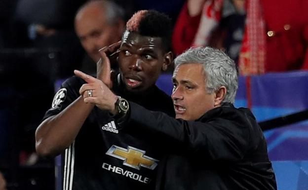 Tenso momento entre Mourinho y Pogba