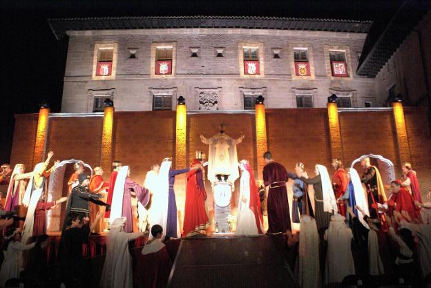 Escena final del 'Reino de Nájera', una de las novedades del espectáculo de este año. :: F. D.