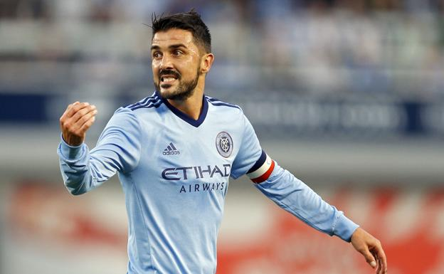 David Villa, durante un partido del New York City.