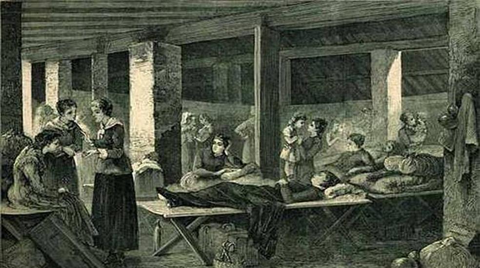 Hospital femenino en la lucha contra las epidemias de cólera