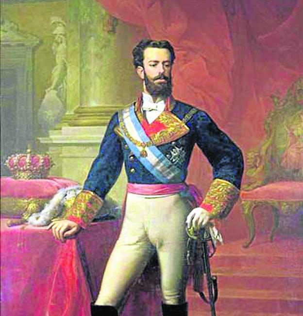 Retrato del rey Amadeo I de España, por Carlos Luis de Ribera